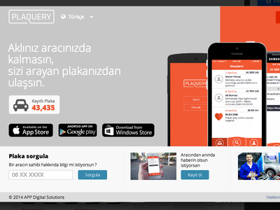 PlaQuery - Web page communicate plaque startup ux ui android ios app