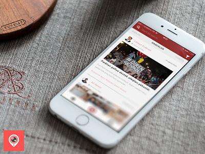 Social News APP - Stream Screen journalist citizen location ux ui news social