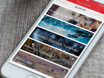 Başkent University Mobile APP - Clubs app mobile ux ui membership clubs university