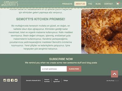 Semotti's Kitchen - About Us about commerce e-commerce ux ui kitchen food