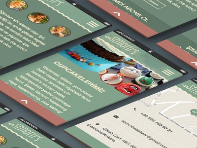 Semotti's Kitchen - Mobile View responsive mobile web ui ux foods