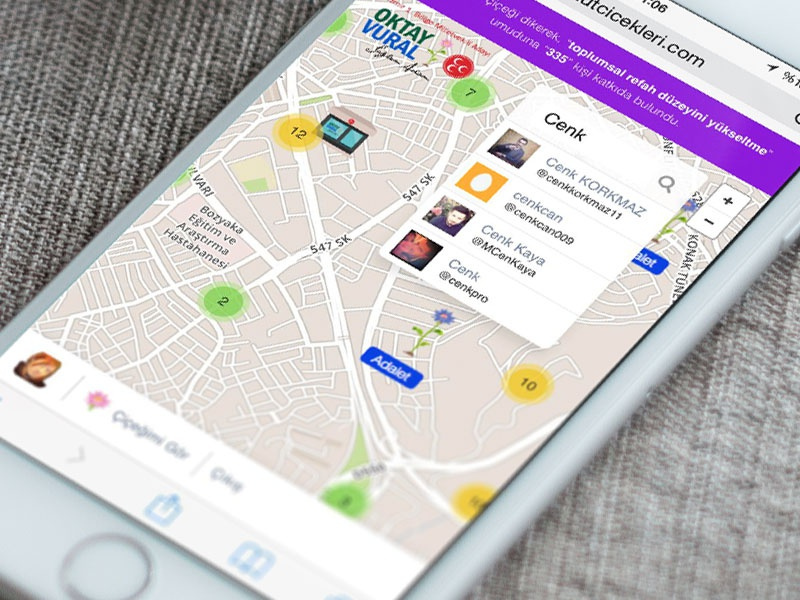 Hope Flowers - Mobile View safari iphone mobile campaign election politician location ux ui media social