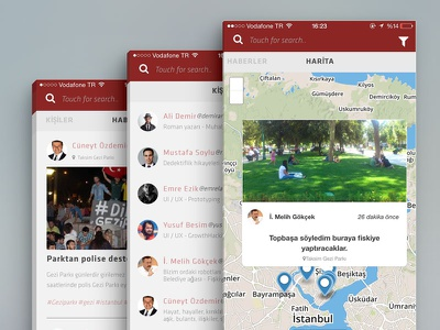 Social News APP social news ui ux location citizen journalist