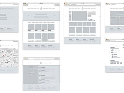 Mottom - Wireframe + Sketch file web strategy ux ui prototype wireframe shop ecommerce