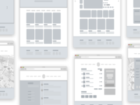Mottom - Wireframe + Sketch file