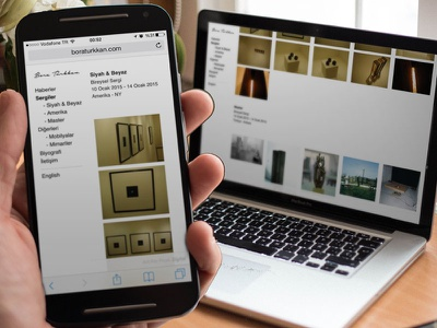 Personal Portfolio - Bora Türkkan desktop mobile responsive ux ui exhibitions sculpture porfolio