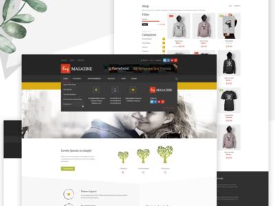 Website, e-commence template