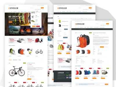 E-commerce website tempalte