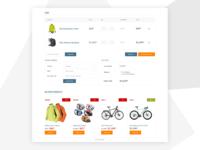 Cart design for e-commerce website template