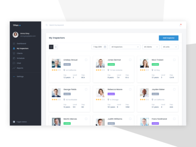 TPlan - team management page