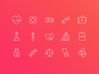 Medical Icons illness red doctor health medicine medical icons icon