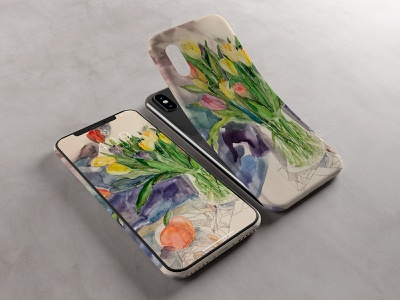 Wallpapers for smartphone flowers design aquarell wallpaper