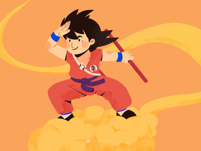 Son Goku-Dragonball japanese dragonball illustration procreate