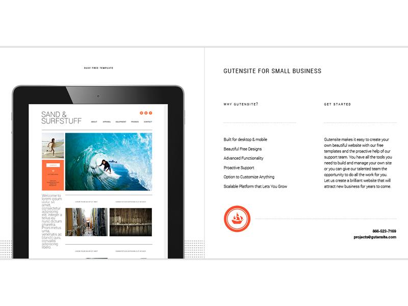 Small Business Brochure brochure cms print gutensite