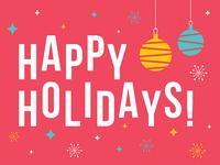 retro holidays greeting card