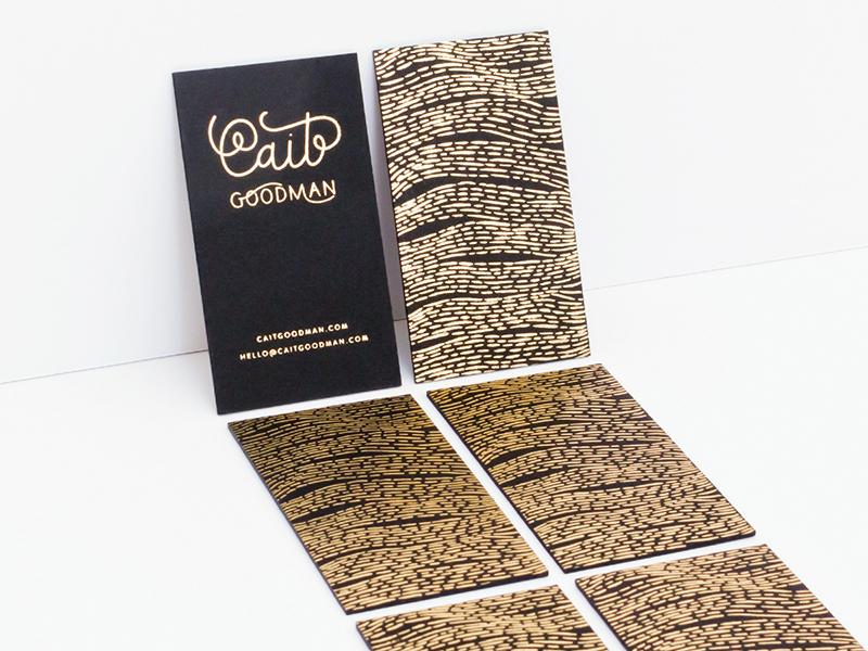 Foil Stamped Cards branding gold business cards letterpress lettering