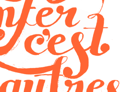 Sartre illustrated lettering typography hand lettering