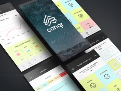 Conqr App Screens