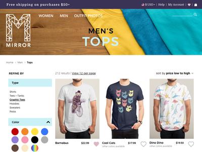Men's tops page