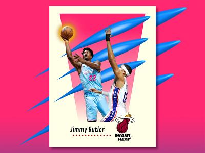 Jimmy Butler - 90s SkyBox Style Card heat miami heat jimmy jimmy butler retro design 90s retro nba design basketball player basketball card
