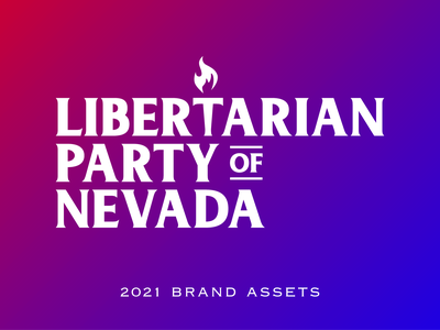 Libertarian Party of Nevada typography gradient government party politics design vector identity minimal branding logo