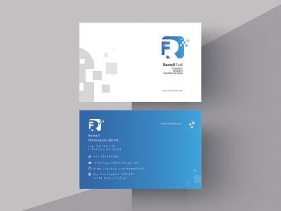 Bussines Card Rommel Fudy degraded branding design logo vector designux material design bussines card card