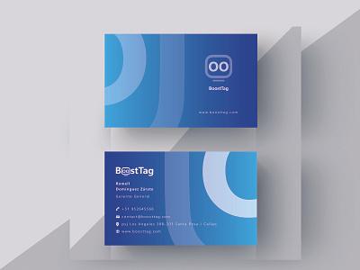 Bussines Card Boosttag identy brandidentity branding design logo typography illustration flatdesign brand material design