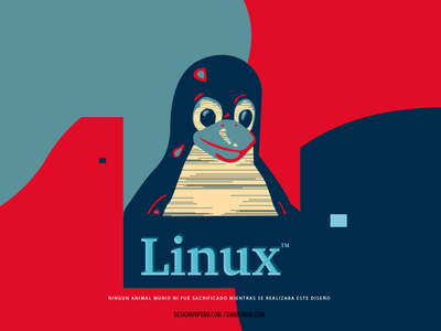 Dear Linux texture flat vector brand logo icon branding illustration typography inspired designux tshirt