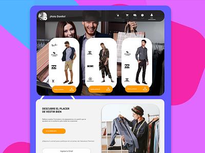 Personal Shopper Web uidesign landingpage moda shirt checkout design flat personal shopper ui material design brand designux ux shop