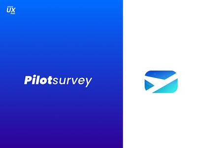 Logotipo Pilot Survey flatdesign brand app icon typography branding logo design ui ux
