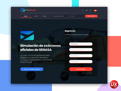 Pilot Survey Web SENASA landing login page webdesign pilot surveys design designux ui ux