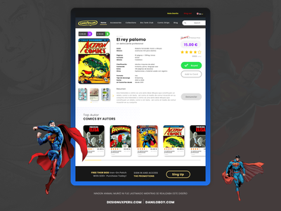 ComicFlex Website for the sale of comics comics illustration user interface comic website uidesign web uxdesign material design design ui brand designux ux