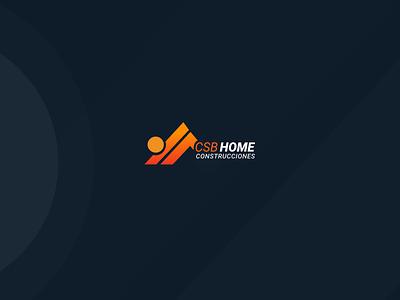 CSB HOME CONSTRUCCIONES LOGOTIPO website web icon designux app typography logo branding illustration ux