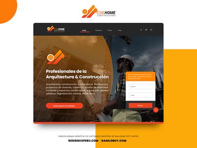 HOME WEB SITE- CSB HOME CONSTRUCCIONES figma home page landing homepage uxdesign material design web ui design designux ux
