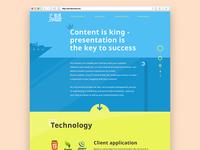 Blue Ocean website design
