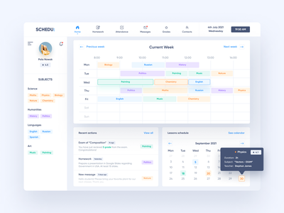 Student's Grade Book App - Dashboard application minimalism interface experience web design app colors ux ui dashboard