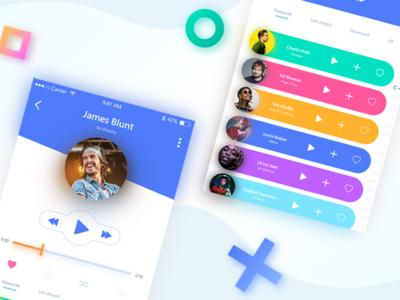 Mobile music app design