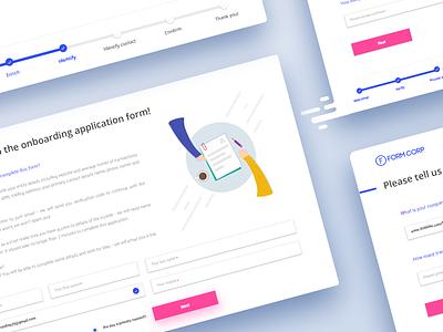 Forms design 2017 web app application onboarding saas illustration material interface ux ui design forms