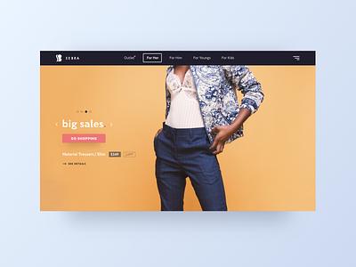 SEBRA - Ecommerce Website colors logo ux ui interfaces design website ecommerce