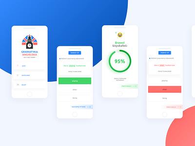 English Learning Platform colors design interface rebranding ux ui learning english mobile app