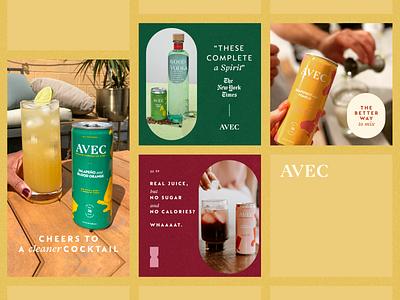 Avec Facebook Ads digital advertising ecommerce drink design ui ui deisgn ads facebook ads