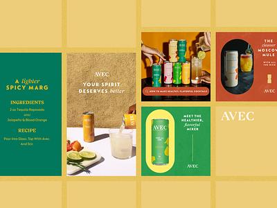 Avec Social Ads drink ecommerce design ui deisgn digital advertising ads facebook ads
