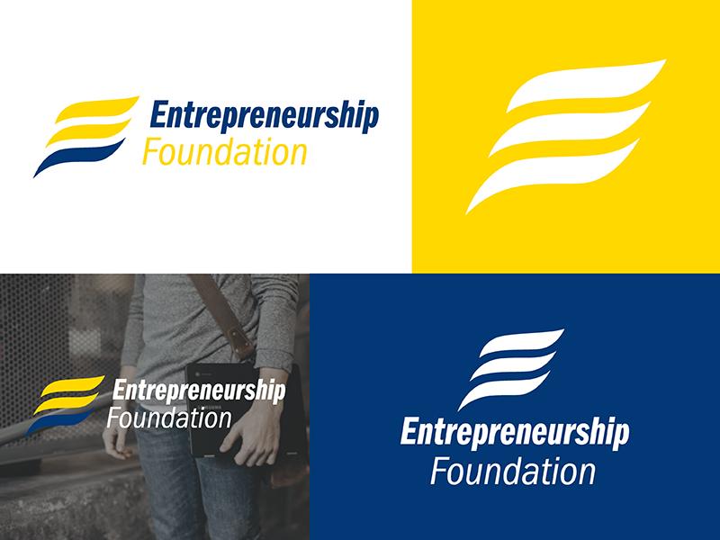 Entrepreneurship Foundation Branding style guide logo design brand logo branding