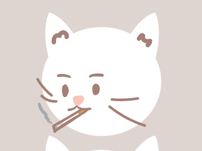 Cat Brothers Illustration cigarette smoking society6 kitten kitty illustration cute brothers cats cat