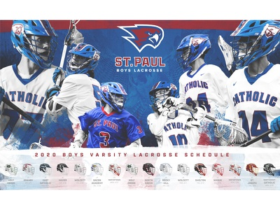 St. Paul Boys Lacrosse 2020 Schedule branding photoshop design schedule poster lacrosse sports