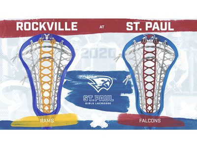 St. Paul Girls Lacrosse 2020 Matchup Graphics design branding photoshop socialmedia girls lacrosse sports
