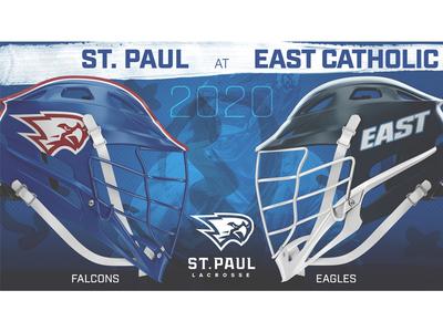 St. Paul Boys Lacrosse 2020 Matchup Graphics social media graphics lacrosse sports design branding