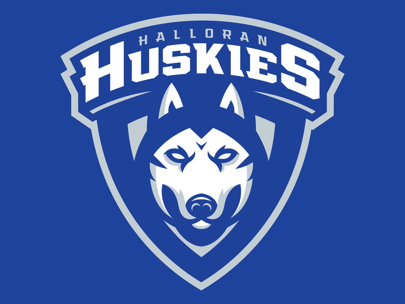 Halloran Huskies Youth Hockey Logo