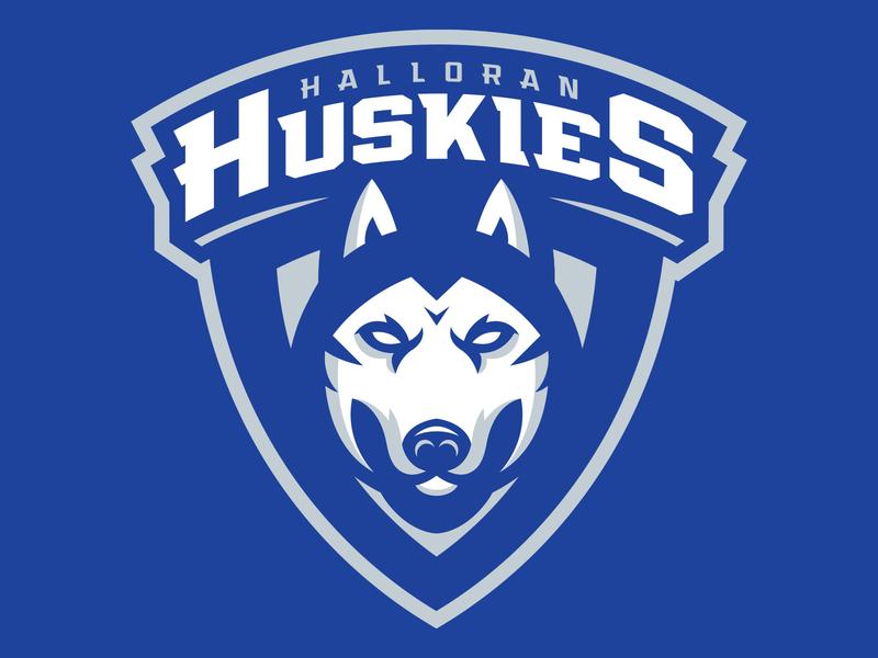 Halloran Huskies Youth Hockey Logo