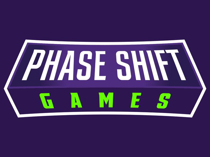 Phase Shift Games Logo gaming games branding update illustration brand identity vector illustrator design logo
